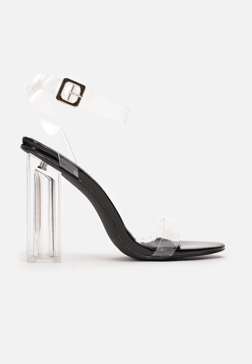 Czarne Sandały Eluliphis