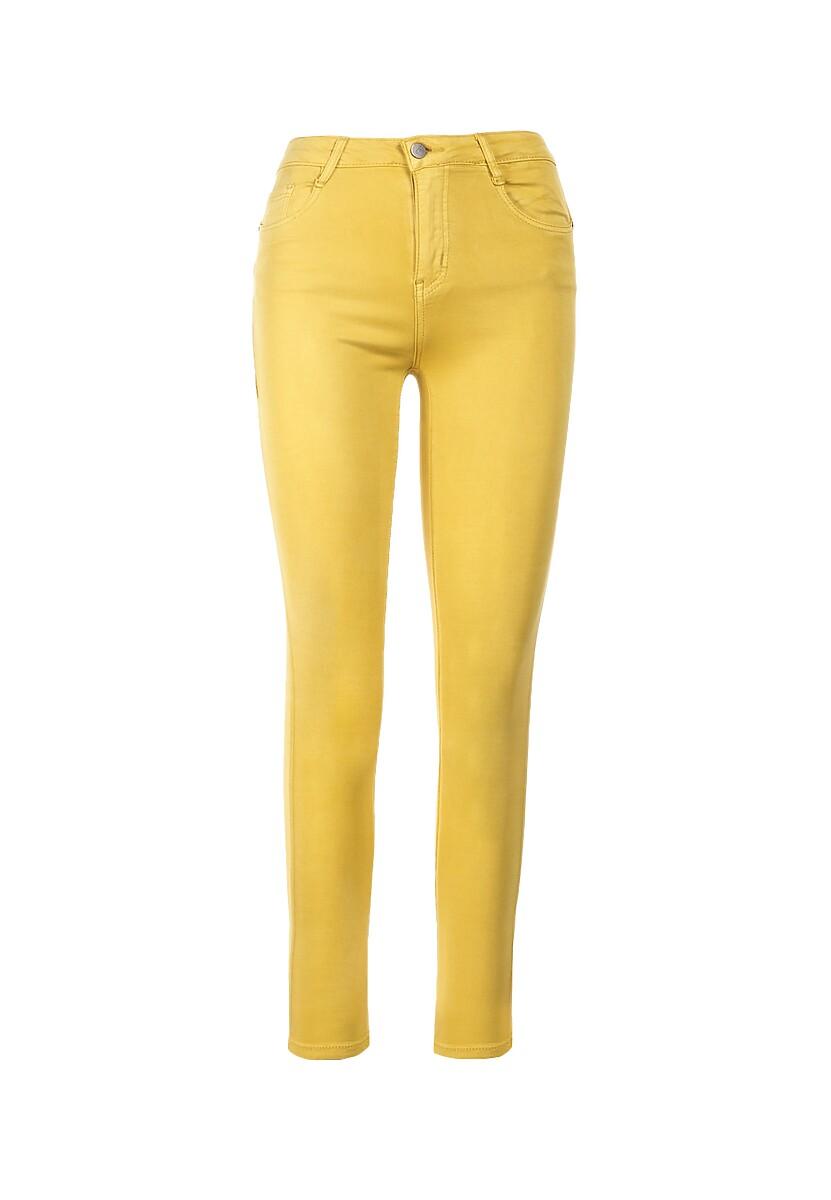 Żółte Spodnie Skinny Abalaeno