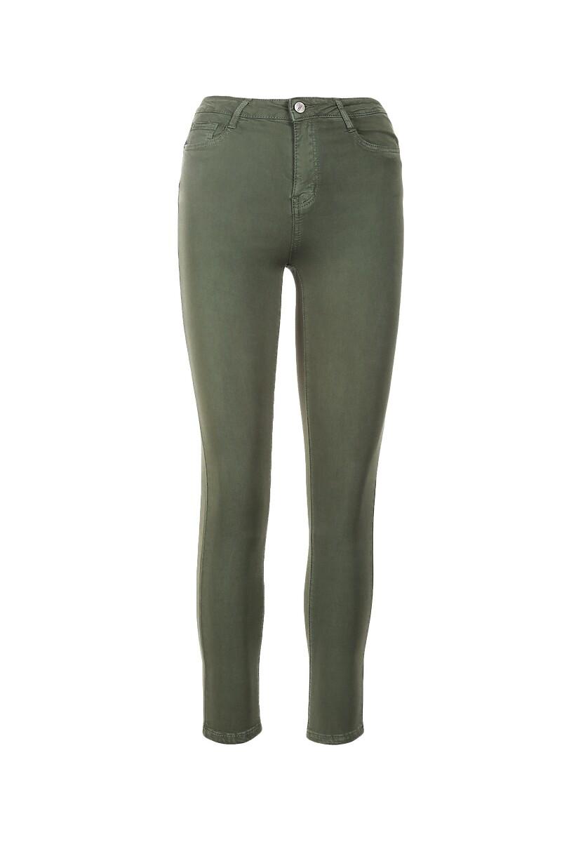 Ciemnozielone Spodnie Skinny Dalivere