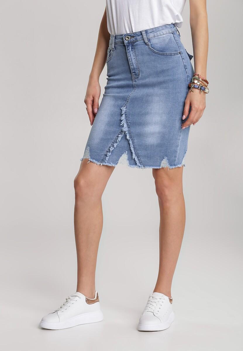Niebieska Spódnica Eludone