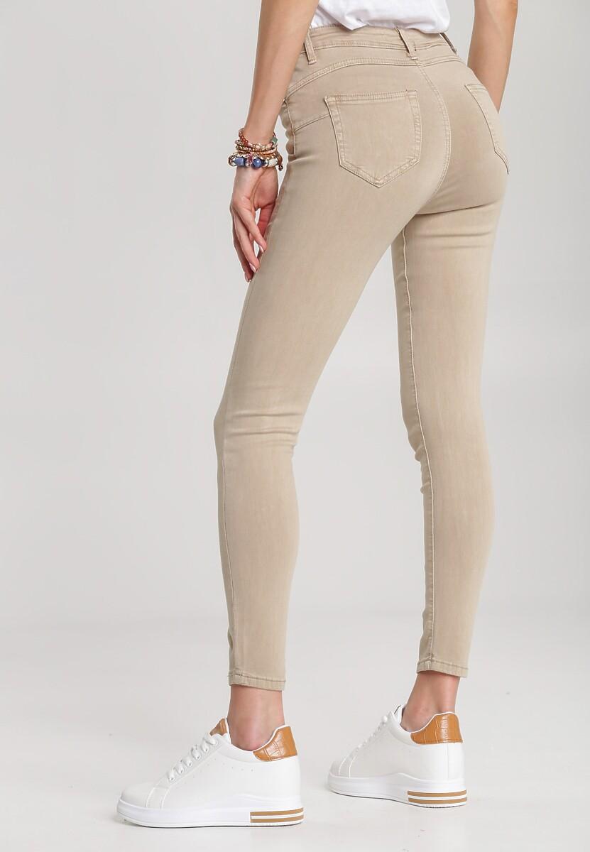 Beżowe Spodnie Memenis