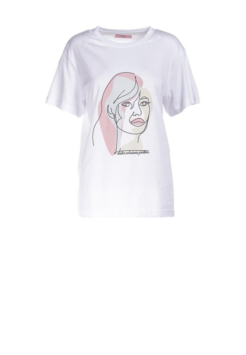 Biały T-shirt Murieleh