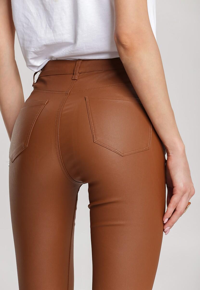 Ciemnobrązowe Spodnie Skinny Navere