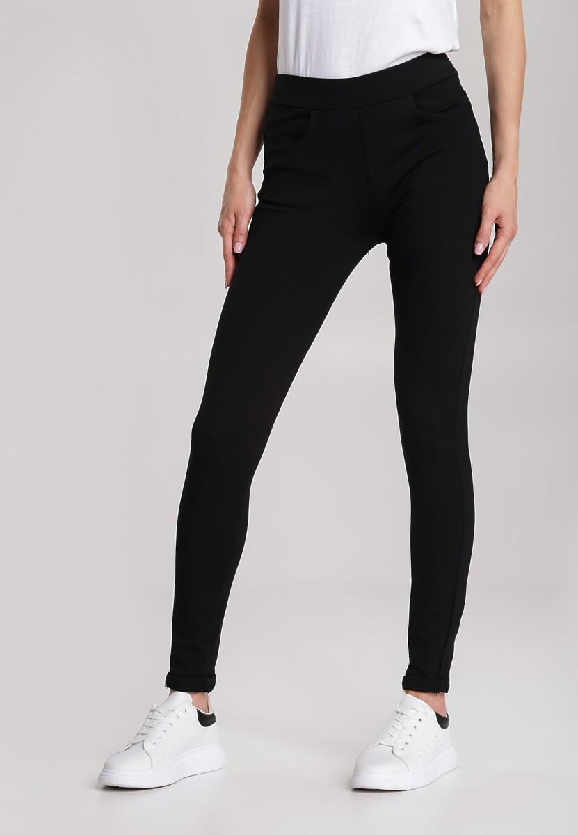 Czarne Spodnie Slim Kalisesis