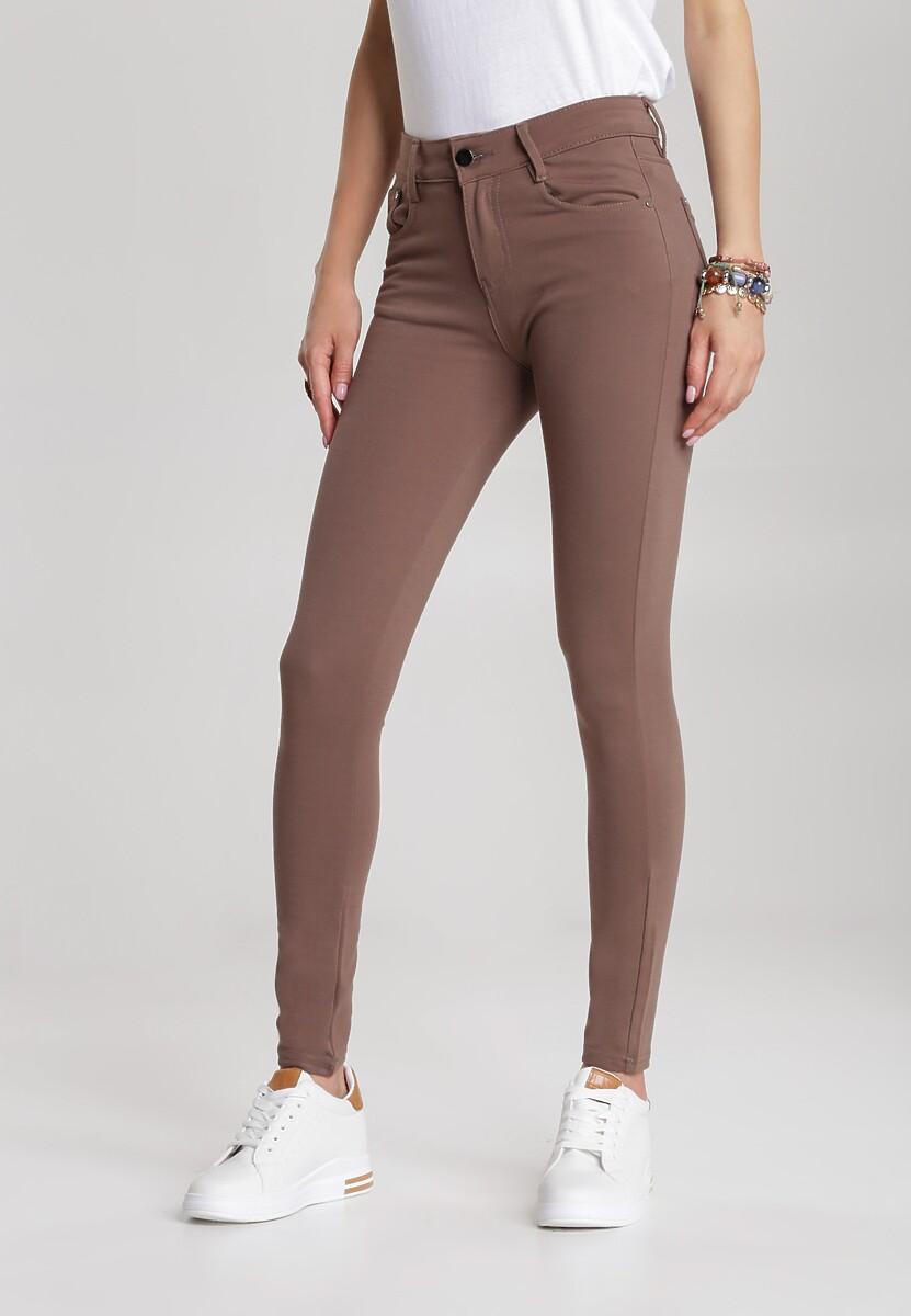 Brązowe Spodnie Mainiassi