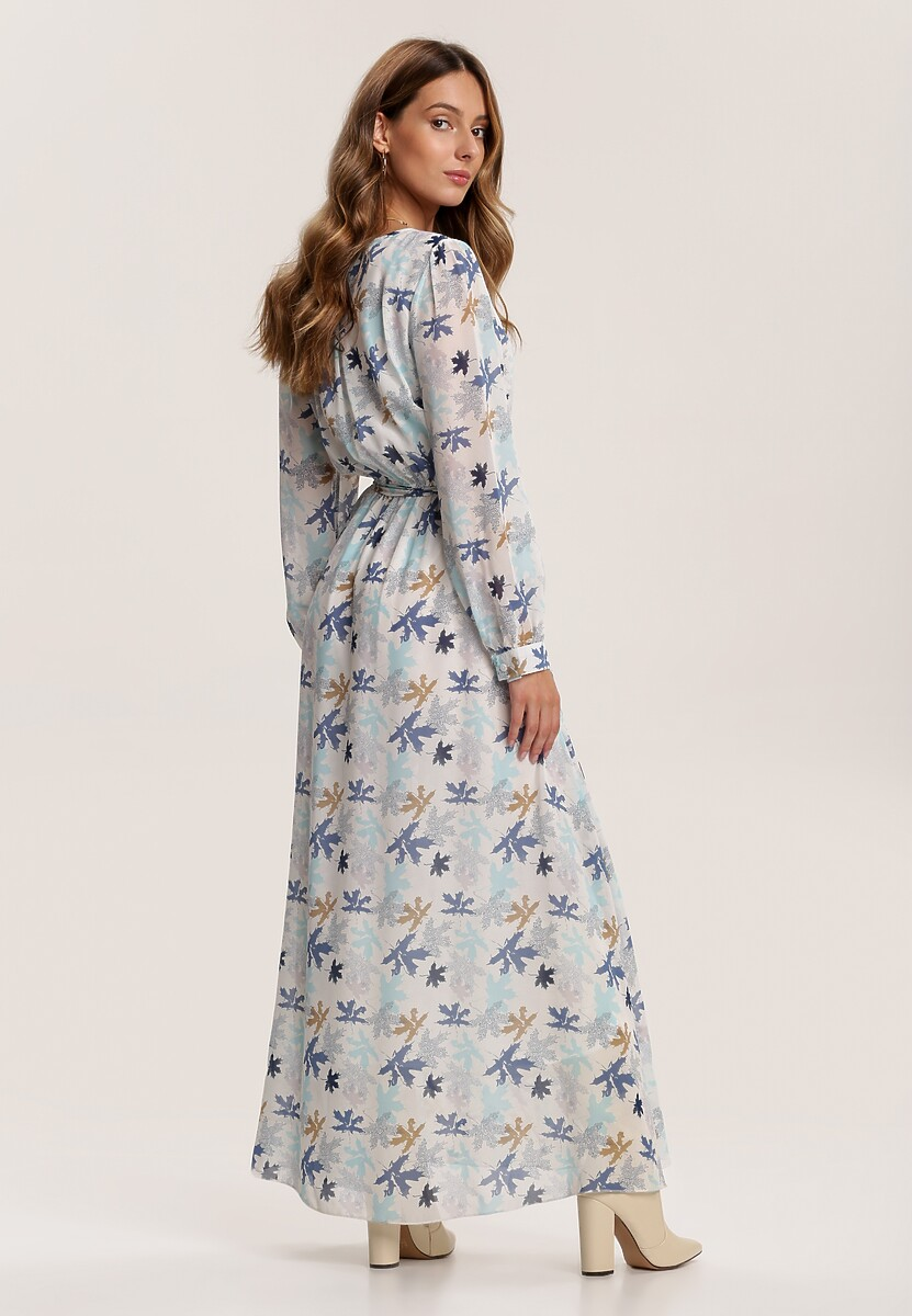 Biało-Niebieska Sukienka Guinerinia
