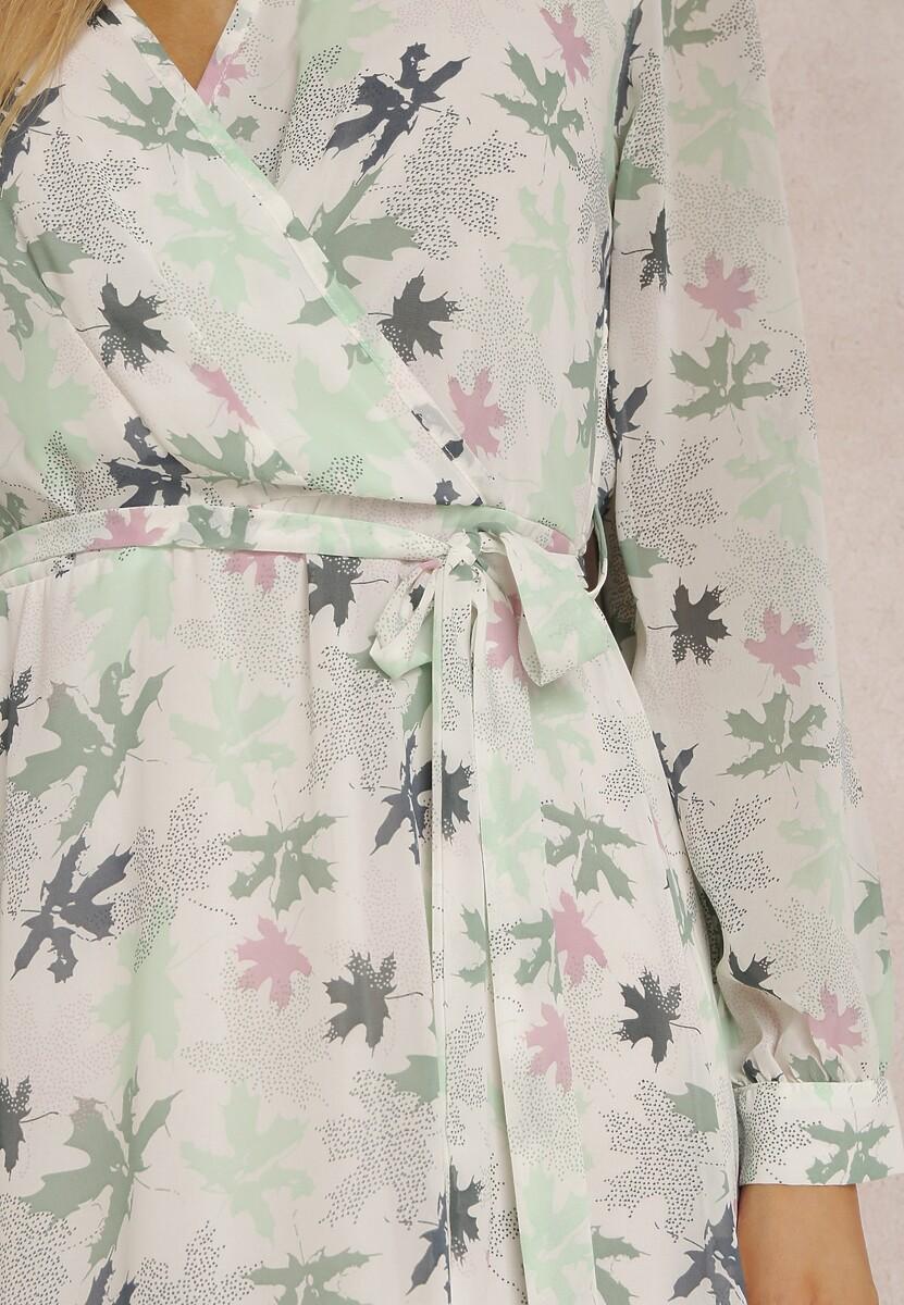 Biało-Zielona Sukienka Guinerinia