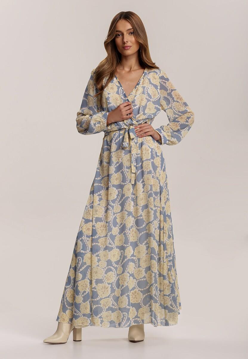 Niebiesko-Żółta Sukienka Guinerinia