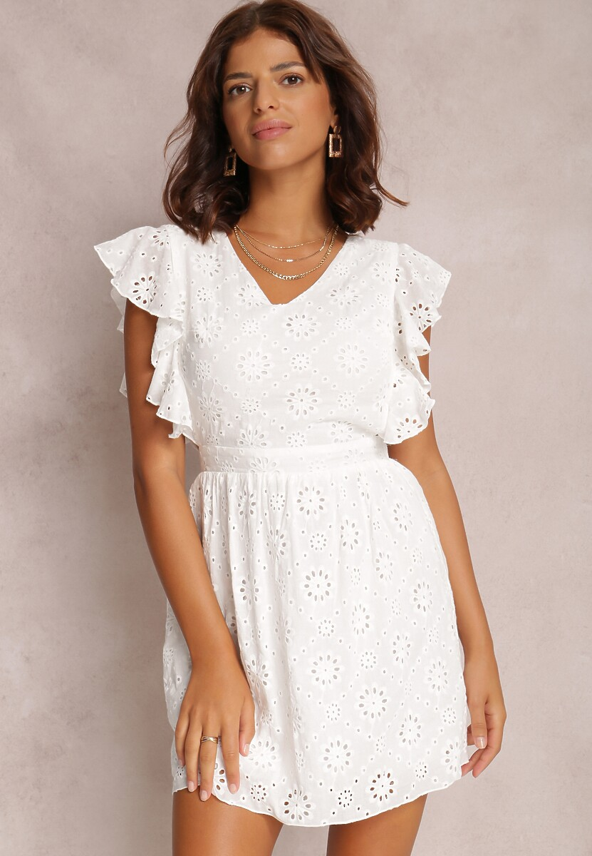 Biała Sukienka Aeganna