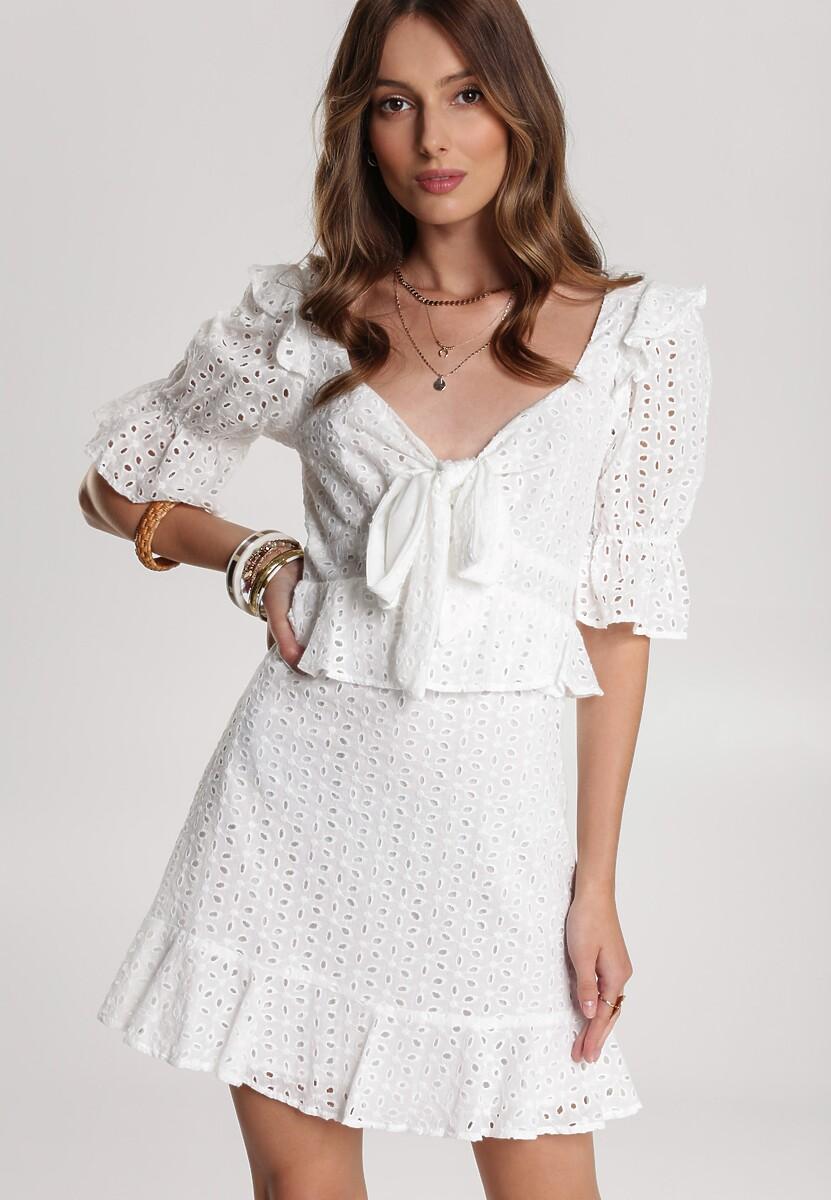 Biała Sukienka Loraegana