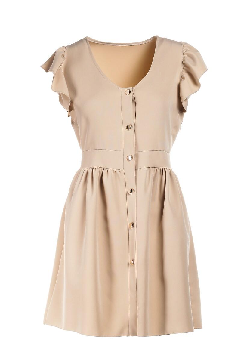 Beżowa Sukienka Iphanisse