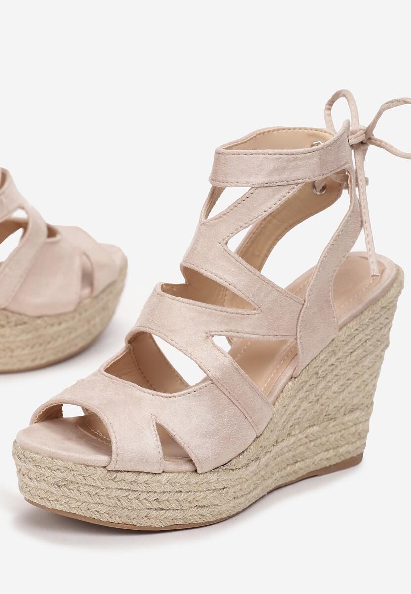 Beżowe Sandały Raeleh