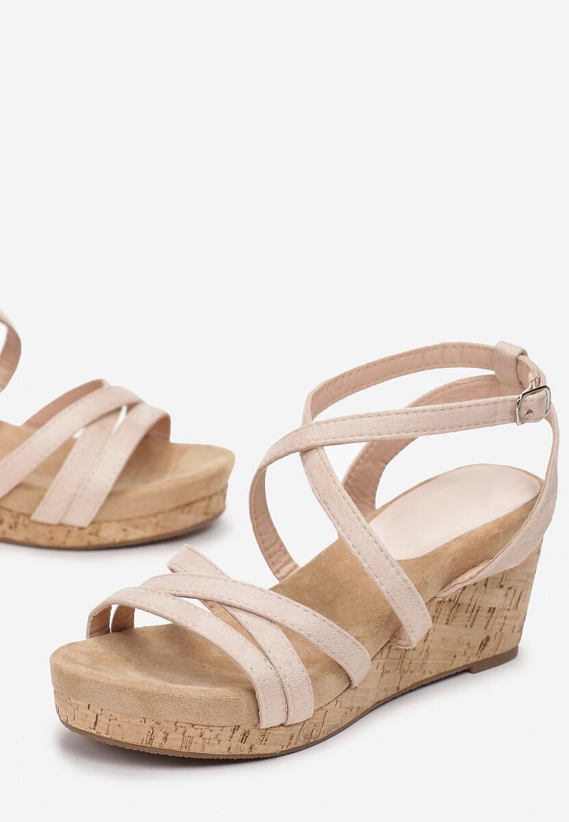 Beżowe Sandały Alulla