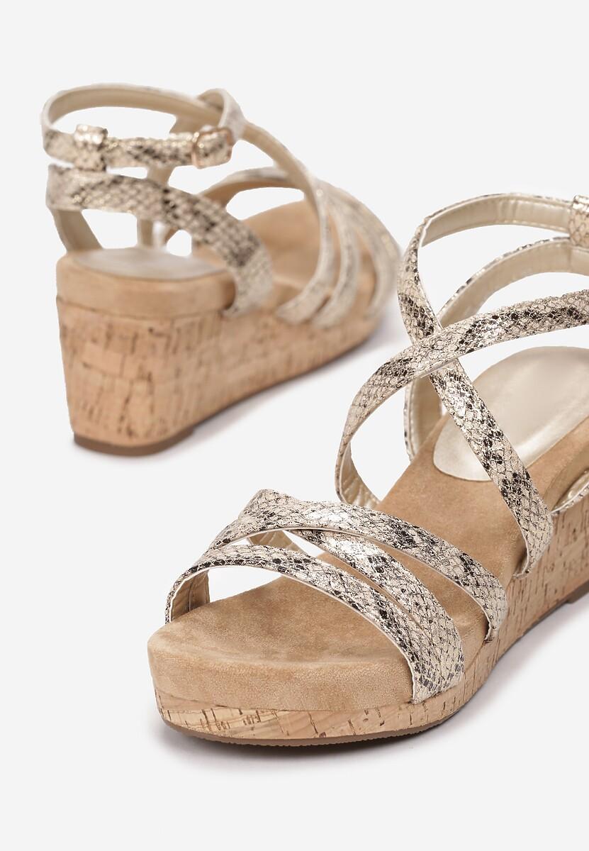 Złote Wężowe Sandały Alulla