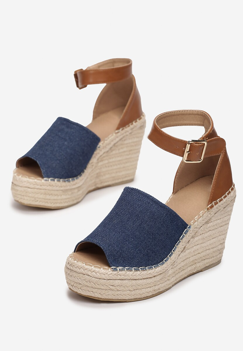 Granatowe Sandały Arrilin