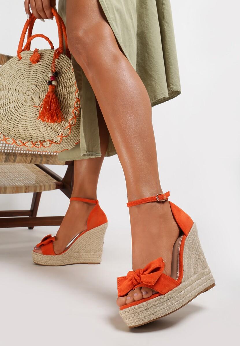 Pomarańczowe Sandały Coraegune