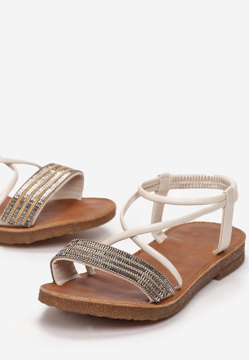 Beżowe Sandały Aethitea