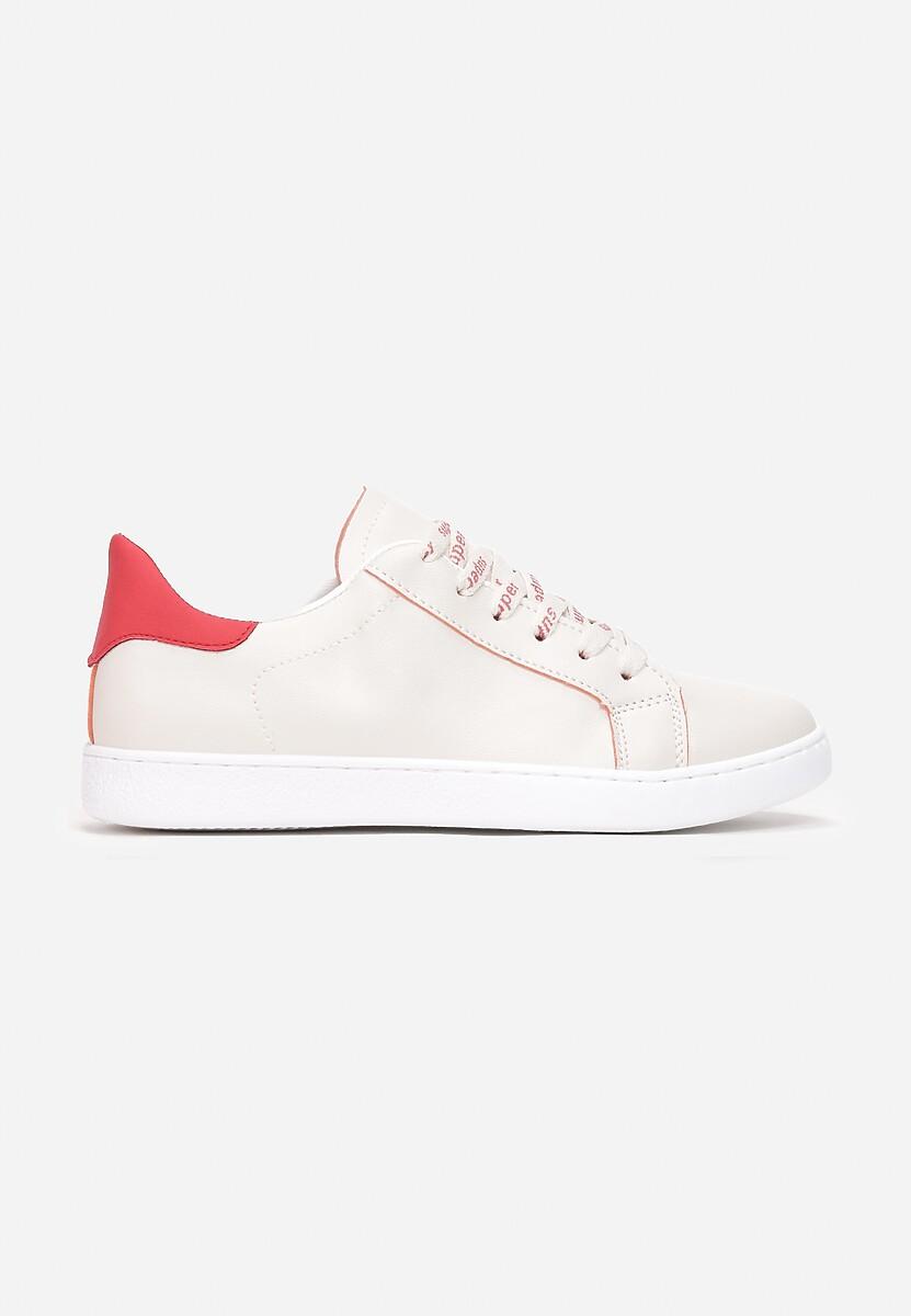 Beżowo-Czerwone Buty Sportowe Jenymala