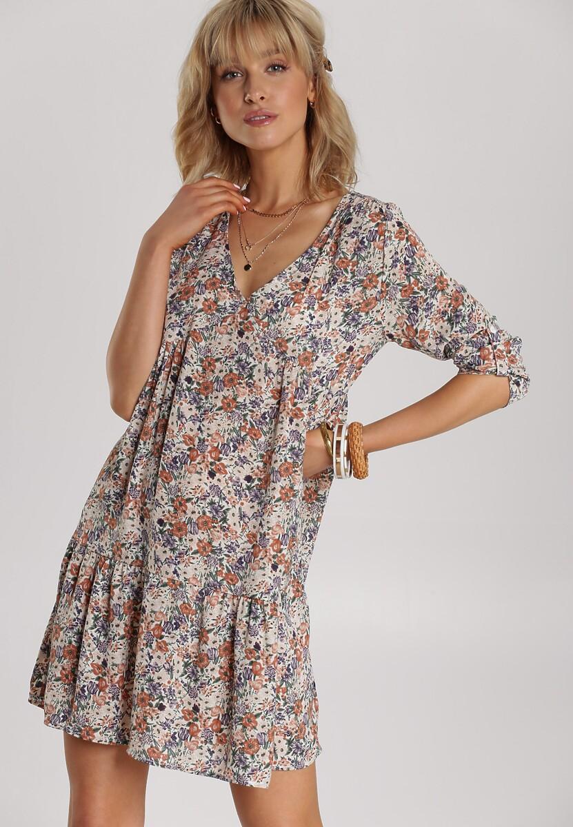 Kremowa Sukienka Genehaneh