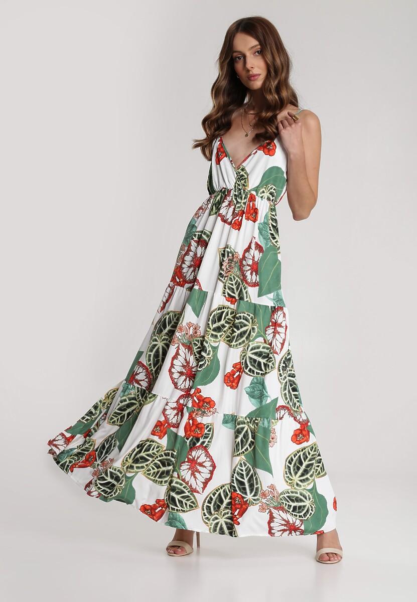 Biała Sukienka Larailin