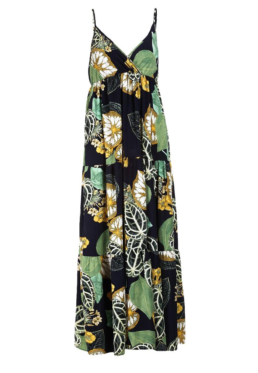 Granatowa Sukienka Larailin