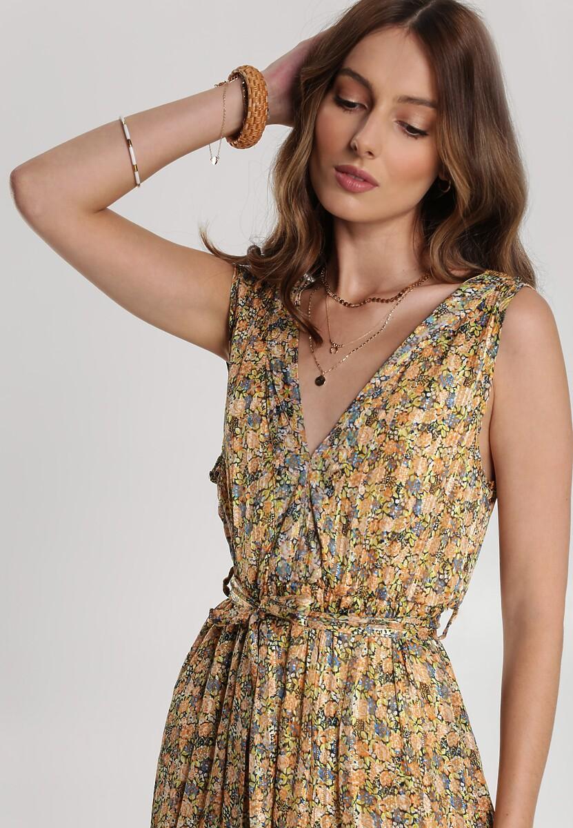 Żółta Sukienka Jenylee