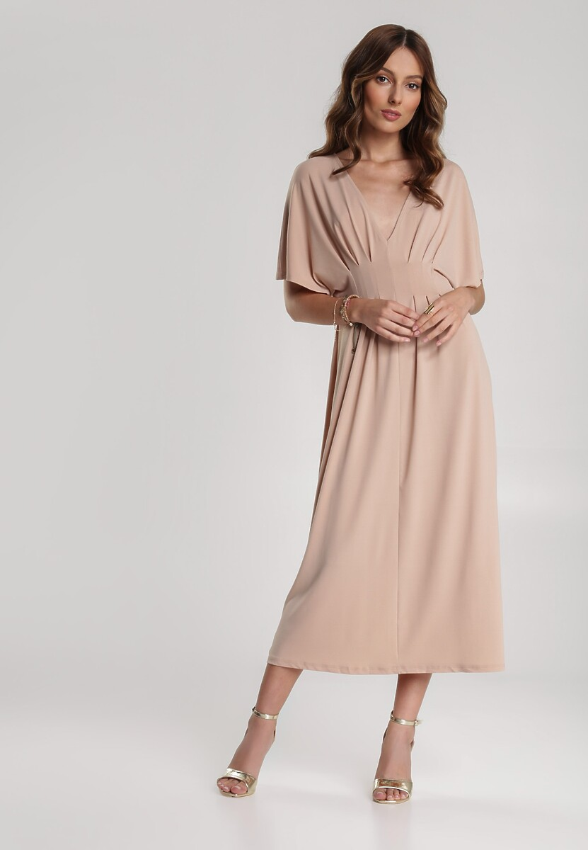 Beżowa Sukienka Perinome