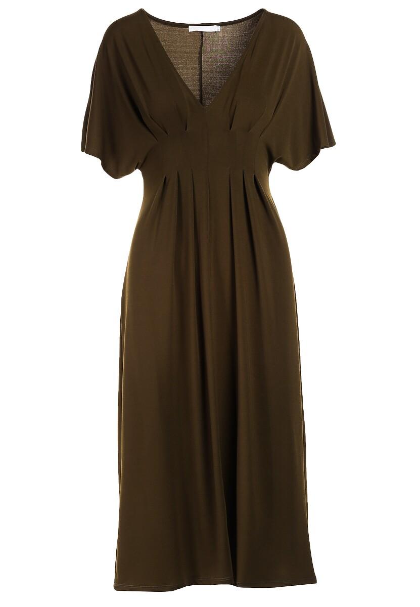Ciemnozielona Sukienka Perinome