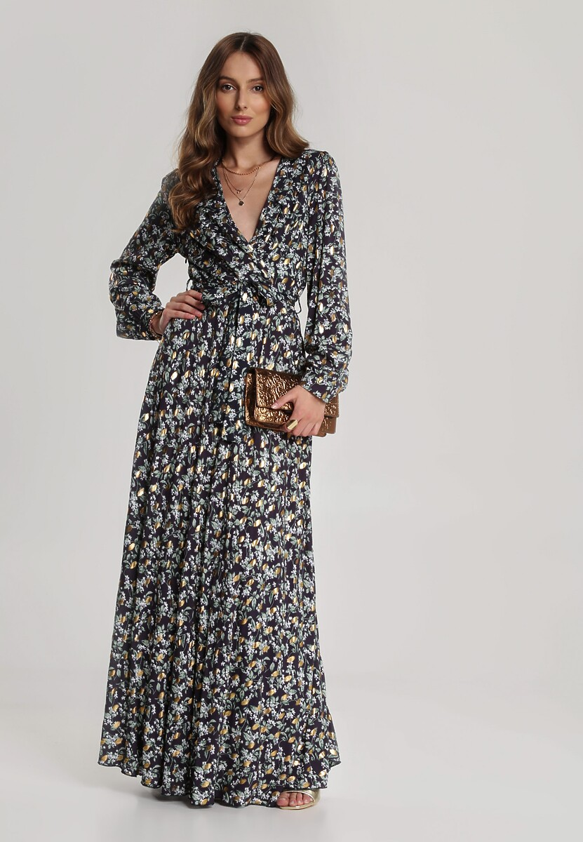 Granatowa Sukienka Nalina