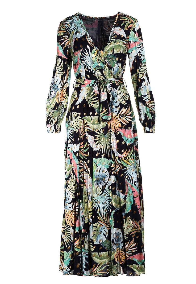 Granatowa Sukienka Parreanes
