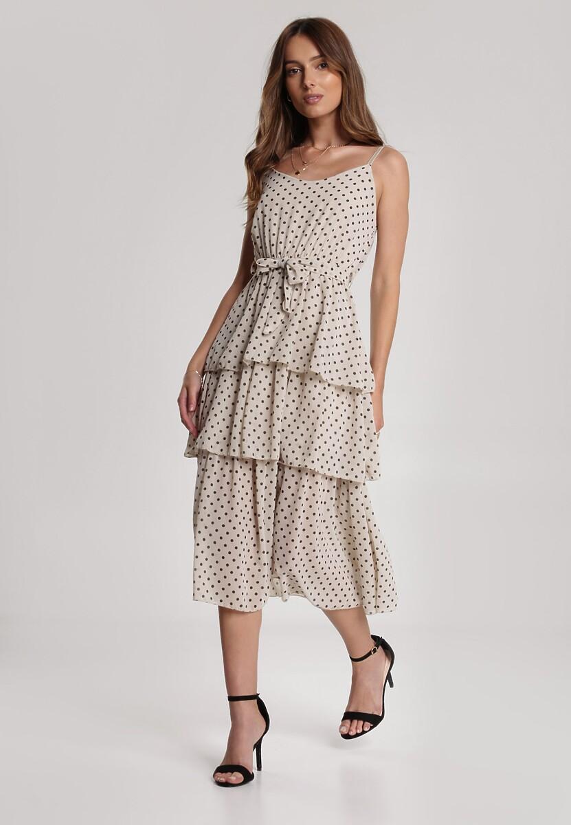 Jasnobeżowa Sukienka Amariope