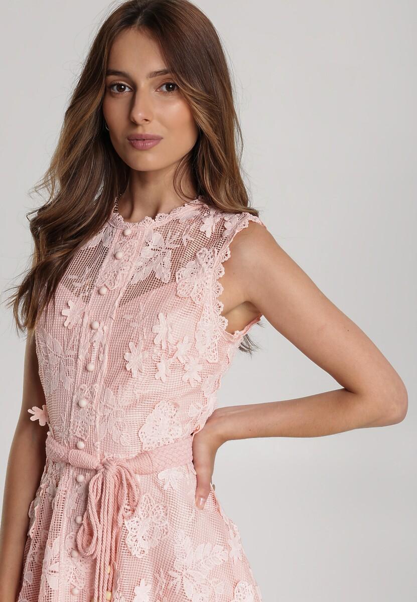 Różowa Sukienka Limoteia