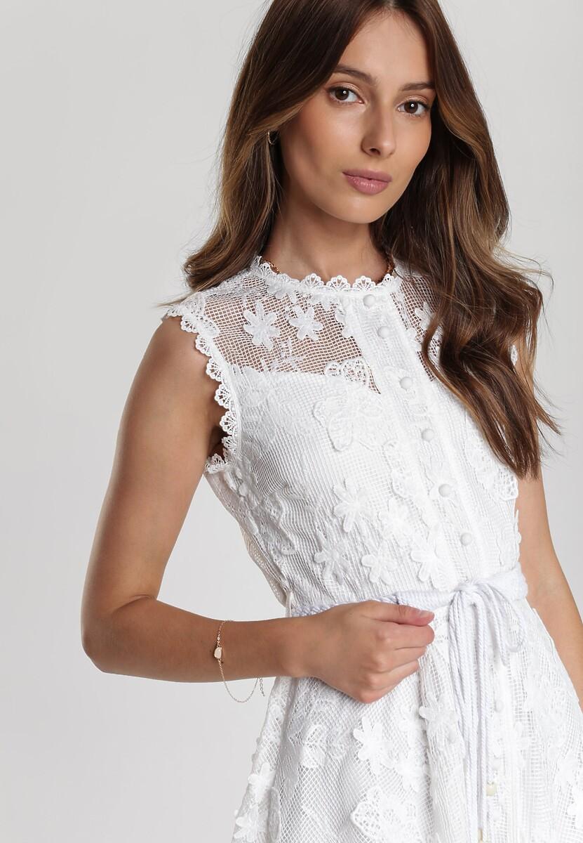 Biała Sukienka Limoteia