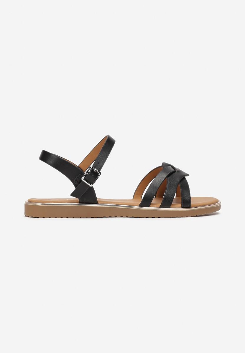 Czarne Sandały Astelaeno