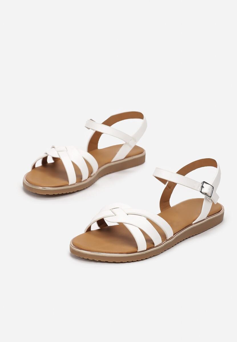 Białe Sandały Astelaeno