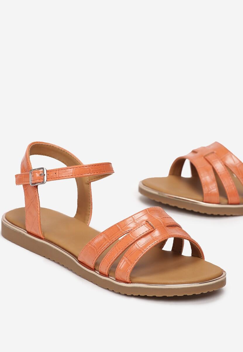 Pomarańczowe Sandały Himia