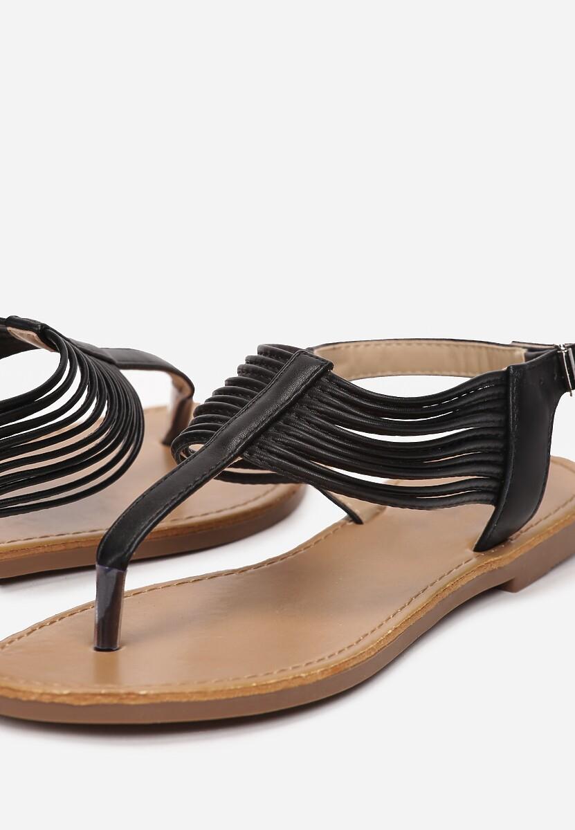 Czarne Sandały Thonilyse