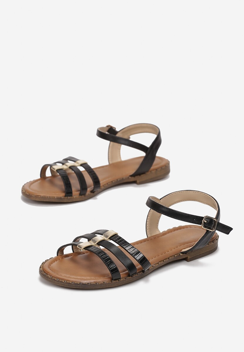 Czarne Sandały Adrealure