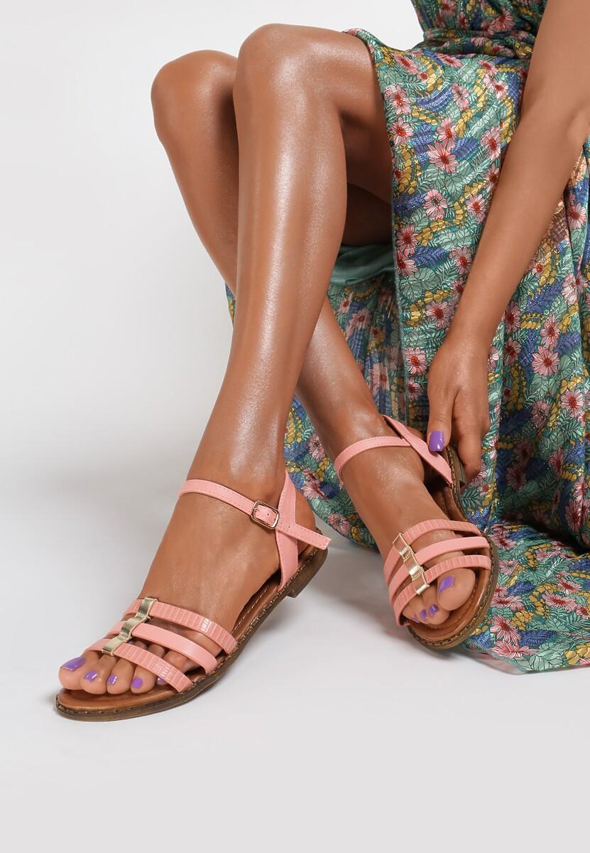 Różowe Sandały Adrealure