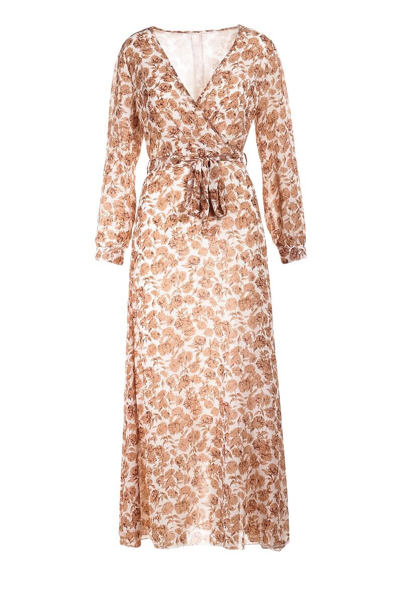 Beżowa Sukienka Guinerinias