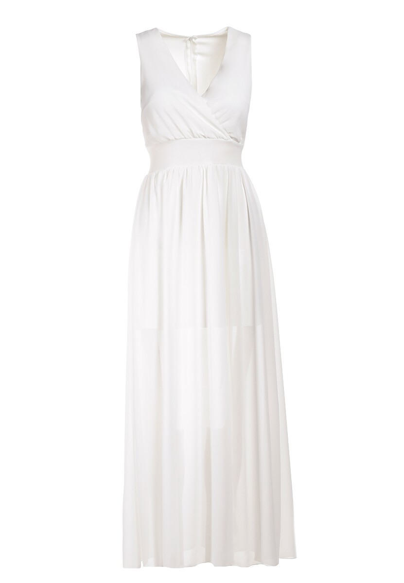 Biała Sukienka Helisine