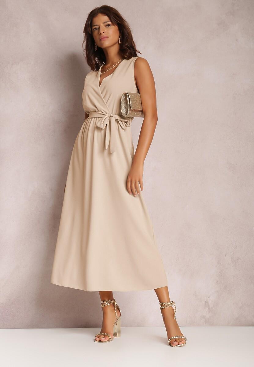 Jasnobeżowa Sukienka Limoronis