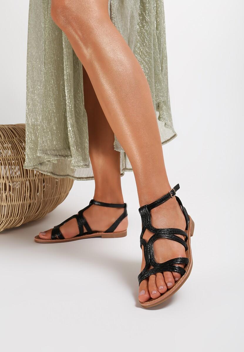 Czarne Sandały Nemesesis