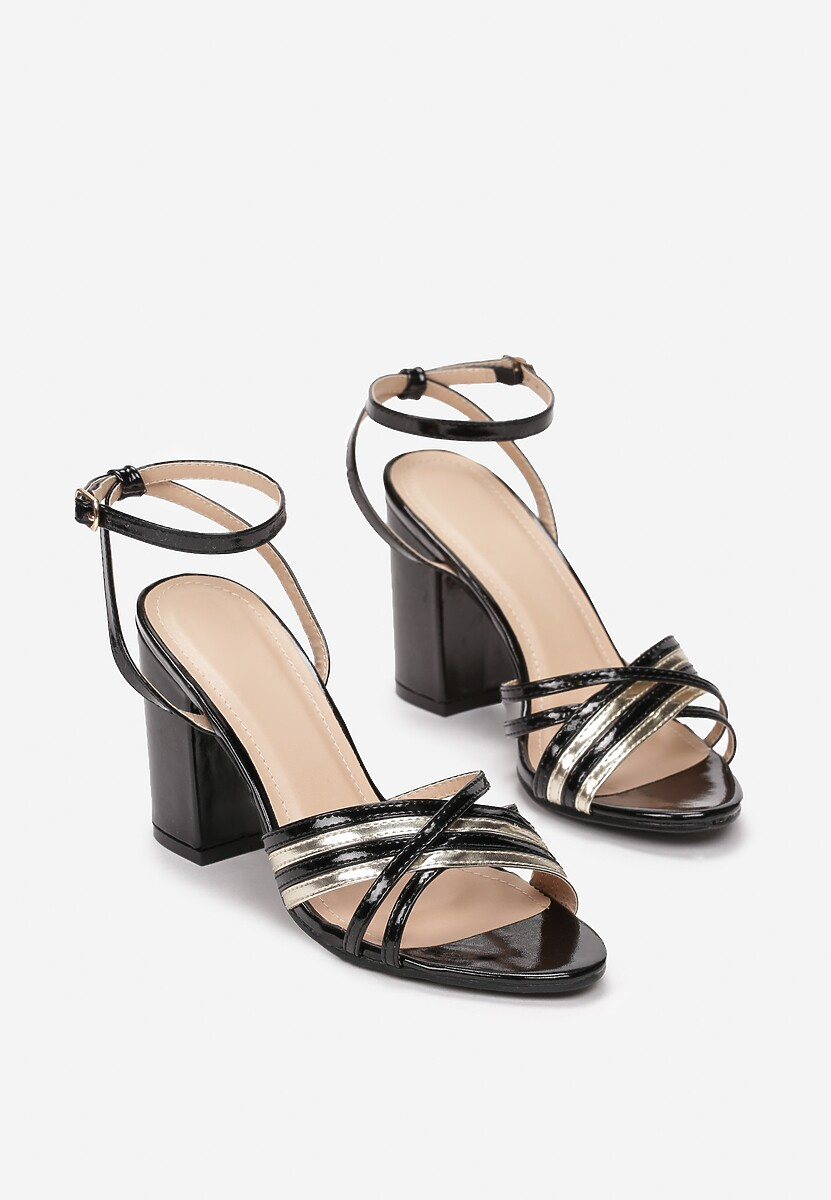 Czarne Sandały Phrireanes