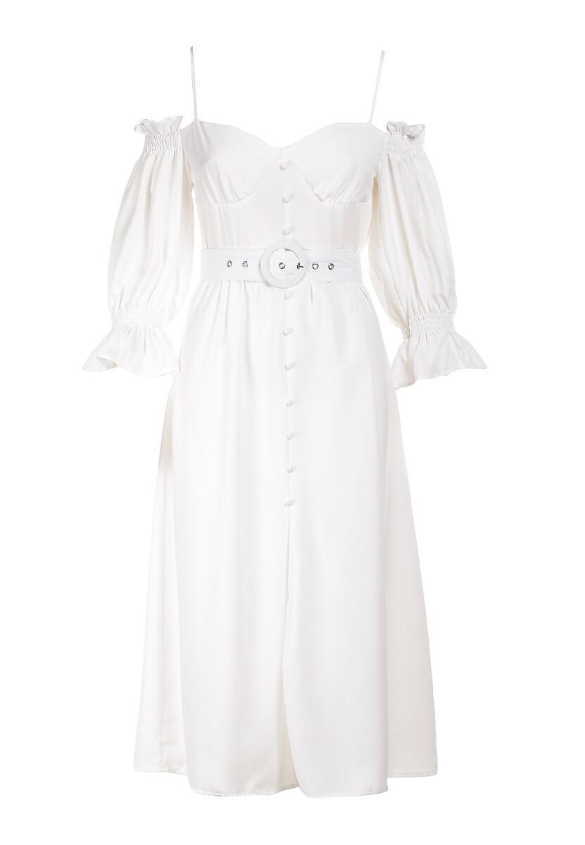 Biała Sukienka Vivinore