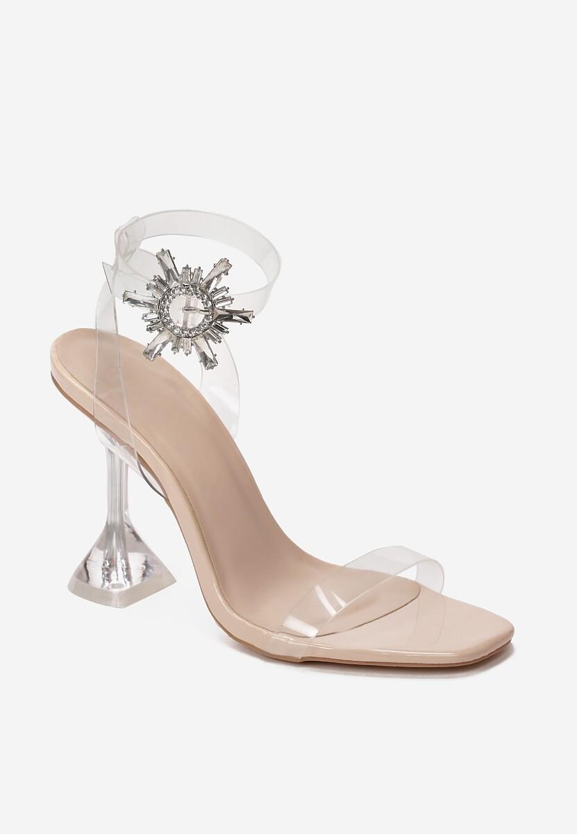 Beżowe Transparentne Sandały Pirerane