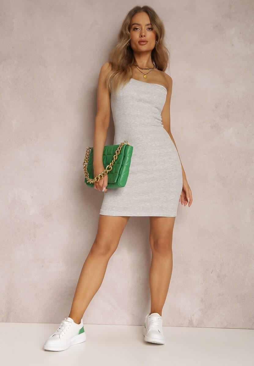 Szara Sukienka Auraviane
