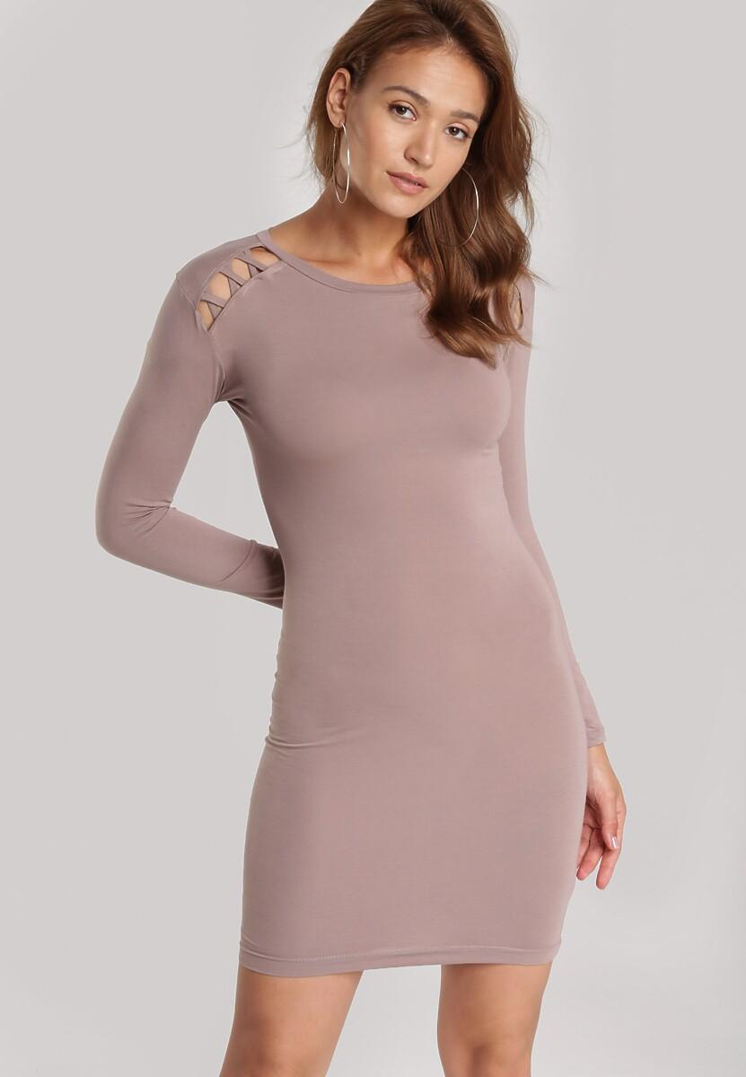 Beżowy Sukienka Echonne