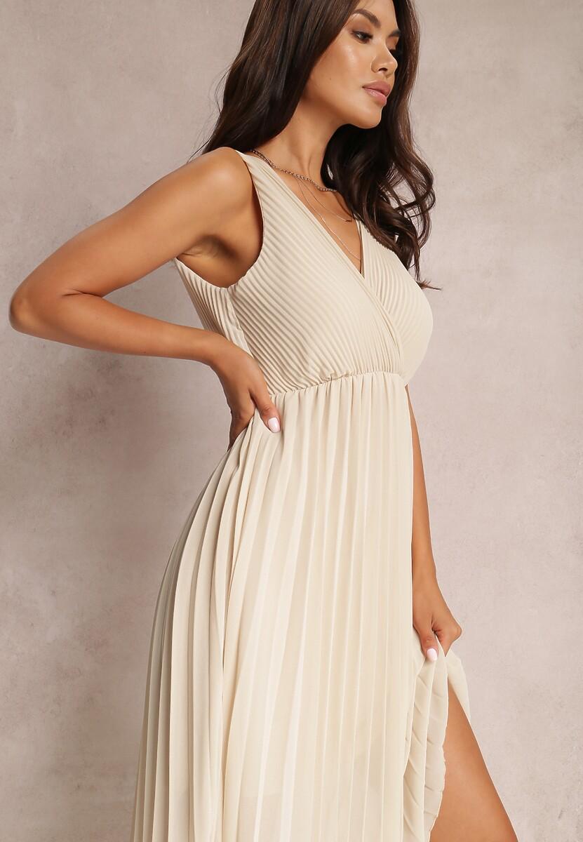 Beżowa Sukienka Corimis