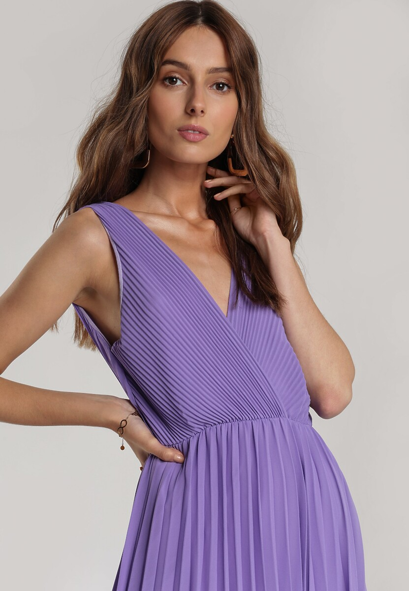 Ciemnofioletowa Sukienka Corimis